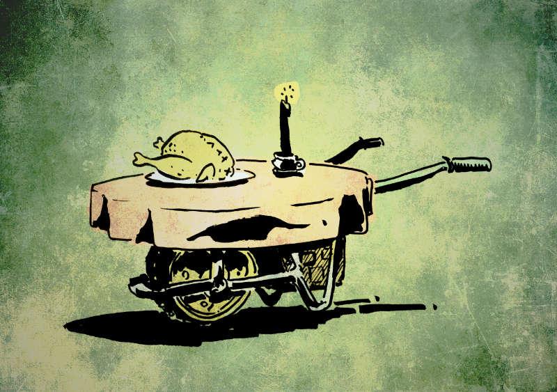 the adventuring wheelbarrow.