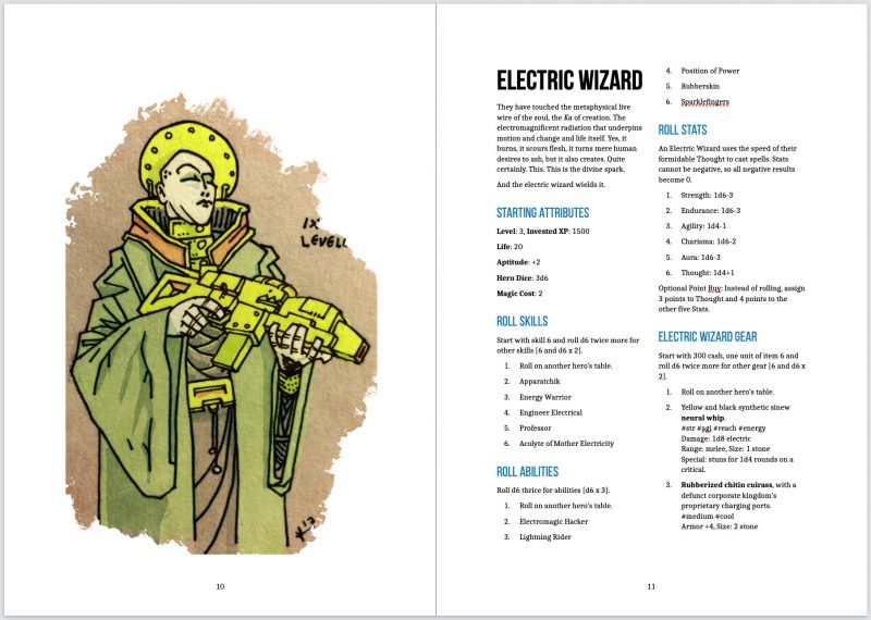 Electric wizard, first spread.